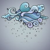 Snowing Cloud Swirls  #GraphicRiver         Snowing cloud swirls. Vector templat…  Schneewolken wirbelt  #GraphicRiver         Schneewolke wirbelt. …