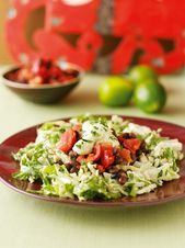 Mexican Chicken or Turkey Salad With Tomato and Black Bean Salsa