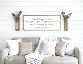 Inspirational signs   the best things in life sign   home decor sign   wood sign wall decor   motivational signs