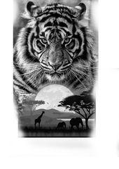Los mejores diseños de tatuajes de tigre para hombres y mujeres: tatuajes de dragones y tigres en lienzo   – Tätowierungen für Frauen