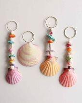 Crafting with shells – 42 inspiring ideas for creative minds   – Muscheln – #cra…