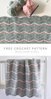 Baby Blanket Free Pattern - Crochet Ripple Baby Blanket