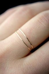 Hammered thin stacking ring – New fashion rings – Hammered thin stacking ring, …