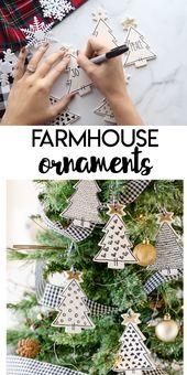 DIY DIY Farmhouse Ornaments