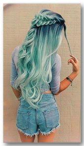 33 Trend der blauen Ombre-Haarfarbe im Jahr 2019 – Samantha Fashion Life   – Haar
