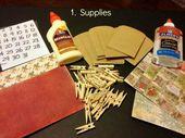 Schritt 1: Sammeln Sie Vorräte, um Ihren eigenen #Advent-Kalender zu erstellen (ich habe alle Vorräte gefunden … – Christmas