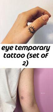 Augen temporäre Tätowierung (2er Set)