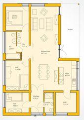 Floor plan modern bungalow