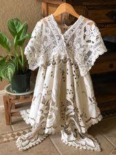 Sew Darn Cute – robe enfant en dentelle vintage, robe enfant, robe boho, photographie …   – Sew Darn Cute