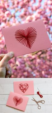 Von Herzen: Bestickte Muttertagskarte {DIY