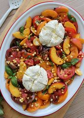 Tomatoes, Peaches, and Corn with Burrata – LideyLikes