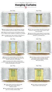 Das Wichtigste zum Aufhängen von Vorhängen: Eine illustrierte Anleitung – Samantha Fashion Life