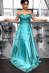 Wunderschöne Sweetheart Teal Long Ball Gown