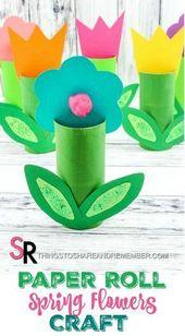 Baby Cards Paper Roll Spring Flowers Craft -   - #BabyDinge #Craft #Dekoweihnachtentisch #F...