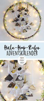 Hula-Hoop-Reifen Adventskalender // Adventskalender basteln // Adventskalender g… – Geschenke