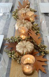 Diy #thanksgiving #table #centerpiece #modern #Falldecor –