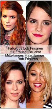 Fabulous Praise Hairstyles for Women: Popular Medium-Length Hair: Long Bob Hairstyles – #beloved #fabulous #women #dresses #hairs