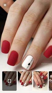 100 Ideas De Rojo Nail Manicura De Uñas Manicura Uñas Decoradas