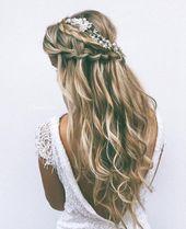 Brautfrisuren auf Instagram – Brautfrisuren & Make-up