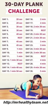 30 Tage Plank Challenge    – Workout+Fitness | Lose Weight Quickly