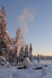Ett vinterläger.