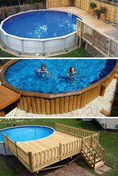 Wie man ein Deck um einen Pool herum baut