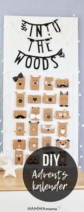 Schau, Tiere im Wald! ° Einen schlichten Adventskalender für Kinder selber machen