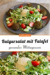 Gesundes Mittagessen: Bulgur Kräutersalat mit Falafel    – Rezepte fürs Büro