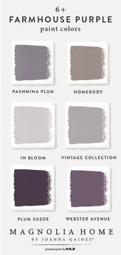 Mit dieser violetten Farbpalette aus dem Magnolia …