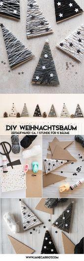 DIY Weihnachtsbäume, die Pappe aufbereiten. (DIE WELT DES RECYCLINGS)   – Weihnachten