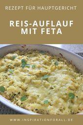 Reis-Auflauf mit Feta