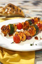 Mediterrane Hähnchen-Gemüse-Spieße – Grillen