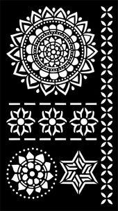Henna Temporary Tattoo Body Art Stencil # Tattoos #henna #stencil # tat …