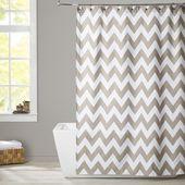 Ebern Designs Essex Single Shower Curtain Color: Taupe  – Bathroom