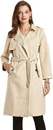 Geweldig voor NOBLEMOON Damesjas met lange mouwen Pocket Longline Winter Herfst Oorlog …   – Womens Coats Jackets