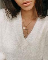 """Auffällige Halskette """"Cross Coin"""", Gold – Statement Necklaces – Statement Jewelry"""