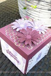 Eine Blast Box zum 40. Geburtstag (Stampin & # 39; Up! Daisy Gruß)   – Explosionsboxen für jede Gelegenheit