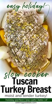 Slow cooker turkey breast is a super easy holiday recipe that will come out juic…   – Holiday: Thanksgivings