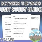 Between the Wars Unit Examine Information (World Historical past) by Excessive Altitude Historical past