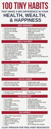 100 kleine Gewohnheiten, die einen großen Unterschied in Ihrem Leben machen – New Ideas