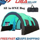 5 6 8 10 Person Outdoor Tunnel Tent Camping Hiking Travel Beach Party Family WF
