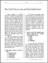 The Chilly Battle in Asia and the Center East | Free printable studying with questions…