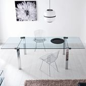 Folding Dining Table Maria Urban Designs Color (Tabletop): Transparent, Color …