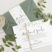 """Hochzeitseinladung – """"BOTANICAL GREEN""""   – Wedding COLOUR Inspiration"""