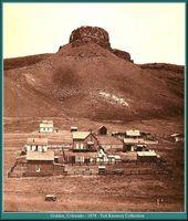 The Castle Rock Golden Colorado 1879 Colorado Towns Denver History Golden Colorado