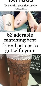 52 adorable matching best friend tattoos to get with your ride-or-die 14