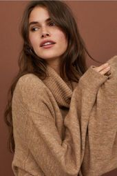 Knit Turtleneck Sweater – Beige melange – Ladies | H&M US