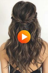 43 gorgeous half-high half-down hairstyles, partly updo hairstyle, braid half to half down