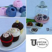 Süß ? Gemischte Süßigkeiten aus Beton und Wolle. Gemischte Süßigkeiten … – upcyclingart