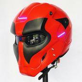 Details anzeigen Rojo Negro Deadpool Casco Casco de Moto ABS Auto Cosplay Dieses Produkt ist ein Original-Produkt   – Escultura